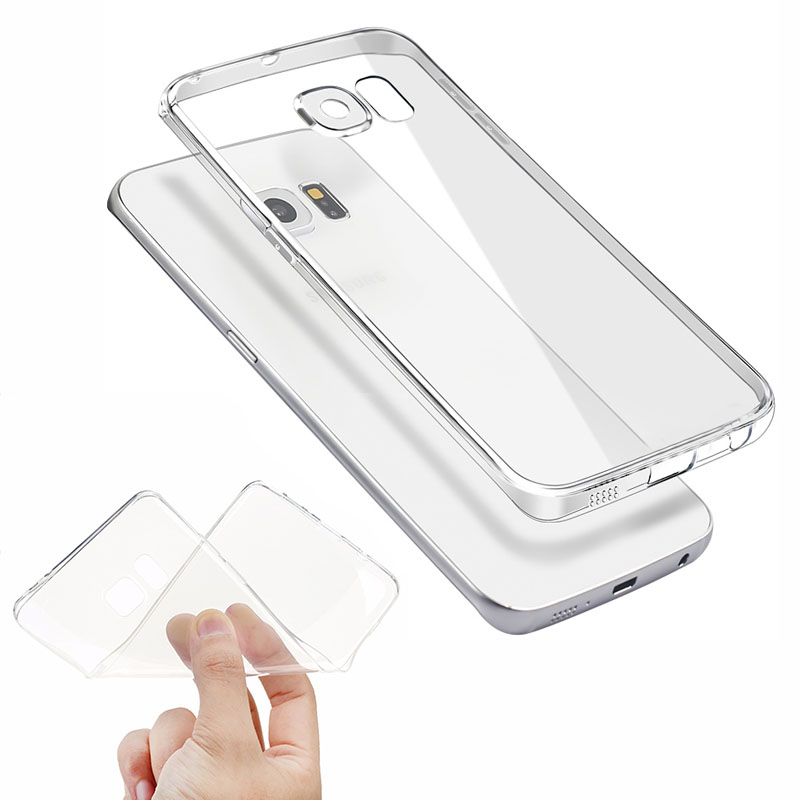 Transparent Clear Case for Samsung Galaxy A3 A5 A7 J3 J5 J7 2015 2016 2017 S6 S7 S8 edge Plus Soft TPU Silicone Cover Ultra Thin