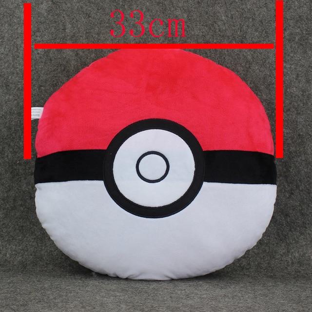 1 Шт. 33 см карман пэт Ash Ketchum Пикачу Poke ball pokeball Плюшевые подушки Игрушки Куклы Фаршированные Мягкие Большие подарок