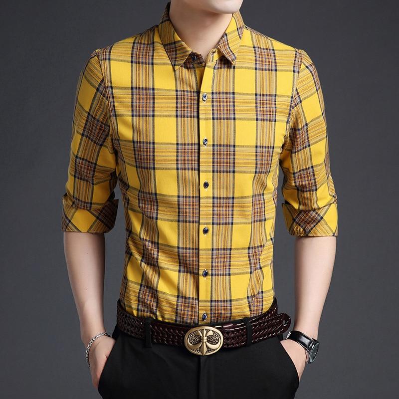 Plaid Shirt Yellow Promotion-Shop for Promotional Plaid Shirt ...