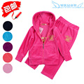 Children's clothing NEW  spring and autumn female male child velvet set medium-large child casual sportswear parent-child