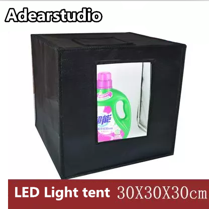 купить 2017 Factory Supply Photo Studio Light Box Tent Kit / LED Light / Portable /30cm Photo Light Box Tent Studio Lighting Tent CD50 по цене 4020.49 рублей