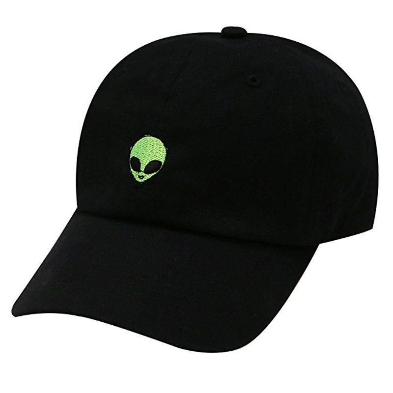 a99ef38a572 2017 Unisex snapback Baseball Cap Fashion green Alien Baseball Cap For Men  Women Embroidered Cap Hat Leisure Bone Adjustable-in Baseball Caps from  Apparel ...