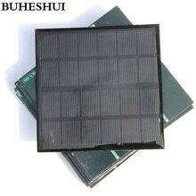 BUHESHUI Monocrystalline Solar Panels 3W 6V Mini Solar Cell For Small 3.7V Power Battery Charger 145*145*3MM Epoxy High Quality
