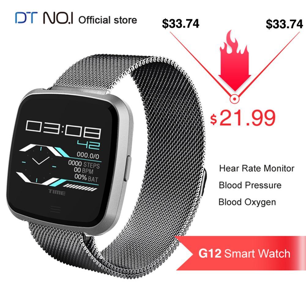 59669cc7a3b3 DT n. ° 1 G12 reloj inteligente Monitor de ritmo cardíaco presión arterial  oxígeno multideporte ...