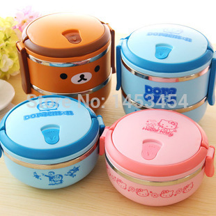 dfdd75f7911c One level 0.7L Doraemon cartoon kids lunch food container Hello ...