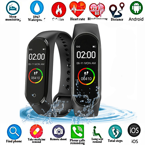 Pedometer Watch Bracelet Screen Blood-Pressure-Monitor Sports-Tracker Smart-Color Women