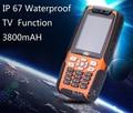 3800mah original L9 IP67 Rugged Waterproof phone shockproof Senior old man mobile phone TV Dual Sim GSM  Russian keyboard