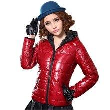 2016 осень-зима модные женские пальто с капюшоном тепловой ватную куртку хлопка-ватник верхняя одежда 4 цвета