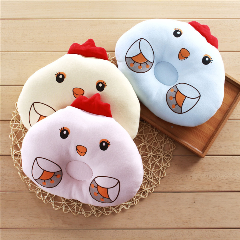 Newborn Baby Pillow Flat Head Sleeping Positioner Support Cushion Prevent baby dolphin chicken styling pillow gift