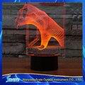 Visión 3D Dragon Claw Ciervo 7 Gradientes de Colores LED de Acrílico Placa Pata Monster Escritorio Dormitorio de La Lámpara de Luz Decoración de La Noche