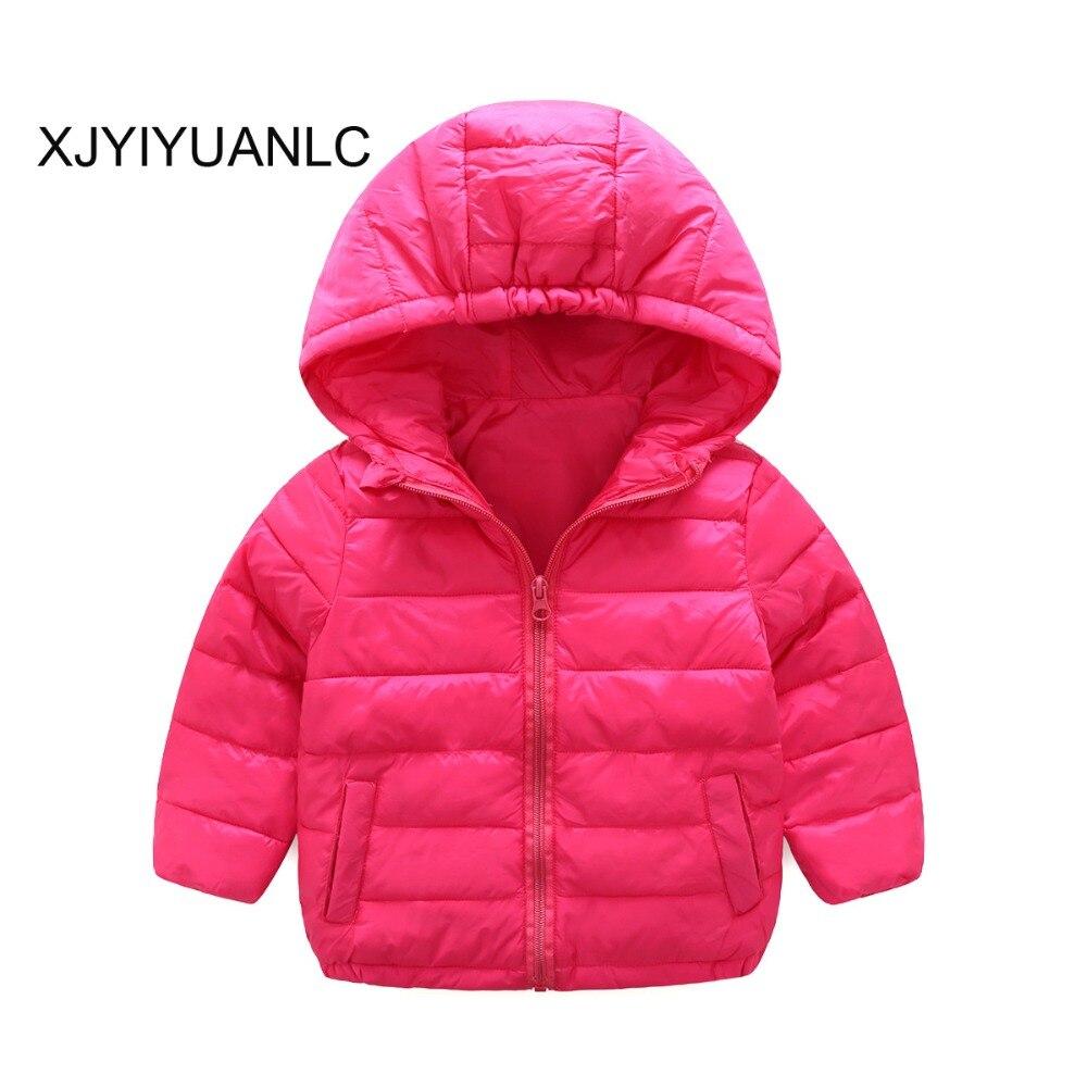 Куртка для маленьких девочек модная детская одежда Высокое качество пальто для мальчиков Обувь для девочек теплая зимняя верхняя одежда Де...
