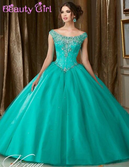 Aliexpress.com : Buy New Design Scoop Cap Sleeve Beaded Ball Gown ...