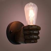 e27 lamp holder Edison Vintage Indutrial Personality Loft Fist Resin Bedside Wall Retro Lights Aisle Balcony light Wall Lamp AA