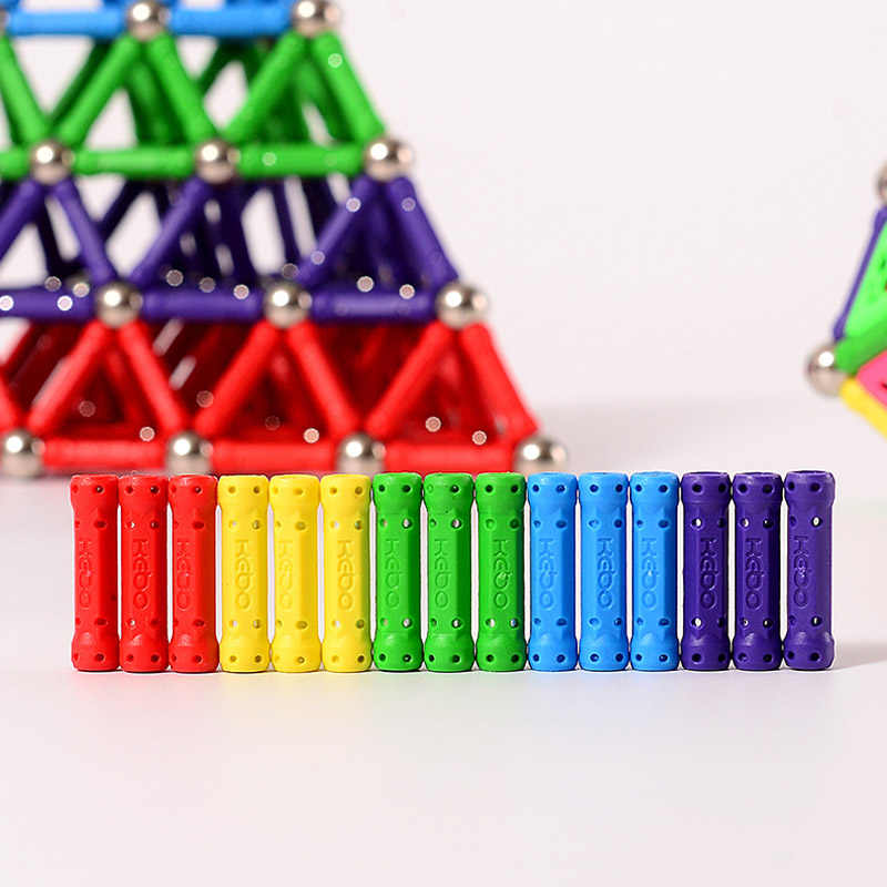 QWZ 50 pcs-280 pcs แม่เหล็กบาร์และลูกบอลโลหะก่อสร้างแม่เหล็กของเล่นสร้างสรรค์ DIY Designer ของเล่นเพื่อการศึกษาของขวัญเด็ก
