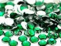 4mm Emerald Color,SS16 crystal Resin rhinestones flatback,Free Shipping 50,000pcs/bag