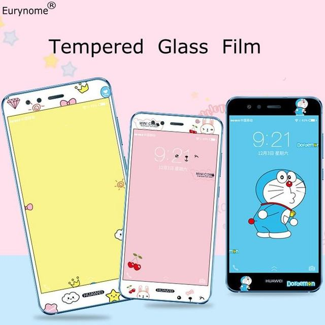 US $5 99 |Tempered Glass Screen Protector Film for Huawei P10 Lite 3D Cute  Cartoon Soft edge Film 9H For Huawei Nova Lite Glass Guard Film-in Phone