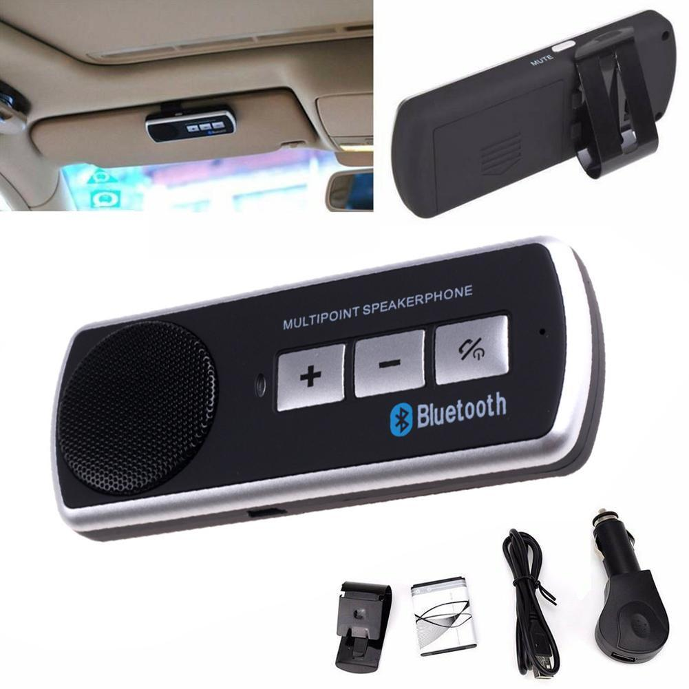 Car Sun Visor Handsfree Bluetooth Car Kit For Smartphones  V4.0 EDR MP3 Music Player for IPhone Android