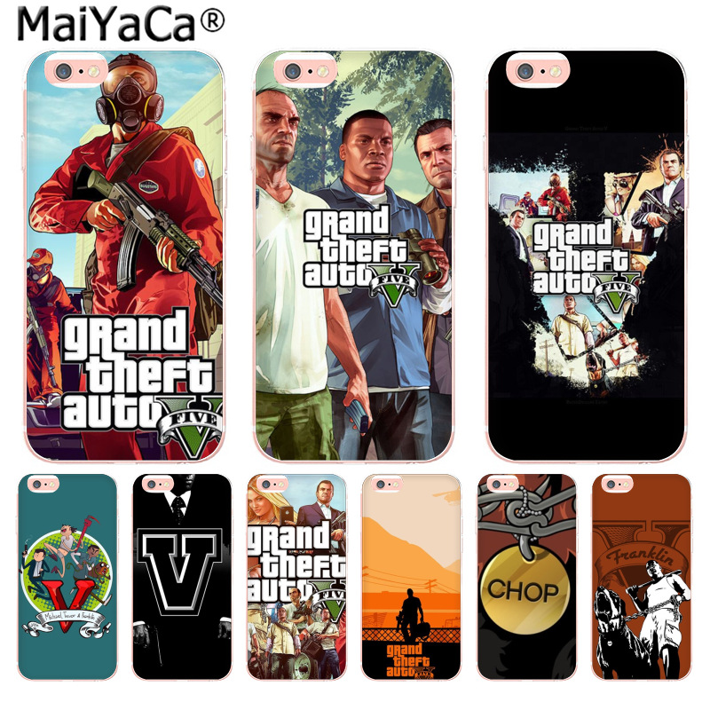 MaiYaCa Gta 5 Grand Theft Auto V Cute Phone Accessories Case for iPhone