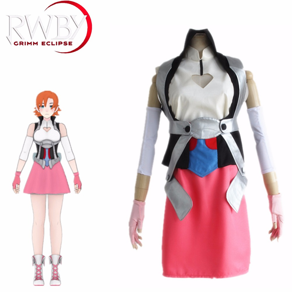 Nora Valkyrie Cosplay RWBY Cosplay Anime Costume Uniform Suits Costume With Vest Shoulder Strap Popular Women Adults Costume