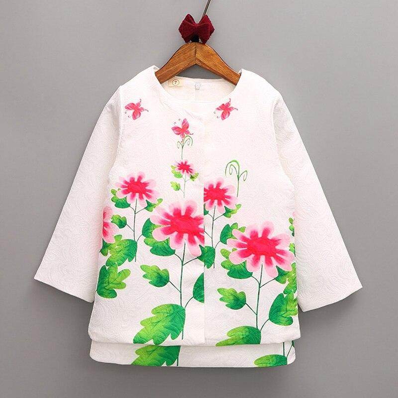 ФОТО 2016 New autumn&winter girls costume 2-9T fashion long sleeve dresses sets for girls 2pcs girls top coats + vest dress