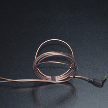 KZ 1.2 m Ouro-banhado a cabo do fone de ouvido 3.5mm Jack OFC LC 3-pole 56 Vertentes DIY Fone De Ouvido Fone De Ouvido Áudio cabo de Fones De Ouvido Para Fones de Ouvido