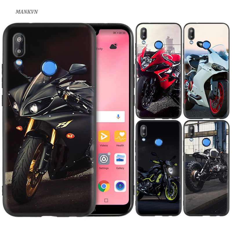 Silicone Case Cover for Huawei P20 P10 P9 P8 Lite Pro 2017 P Smart+ 2019 Nova 3i 3E Phone Cases Motorcycle