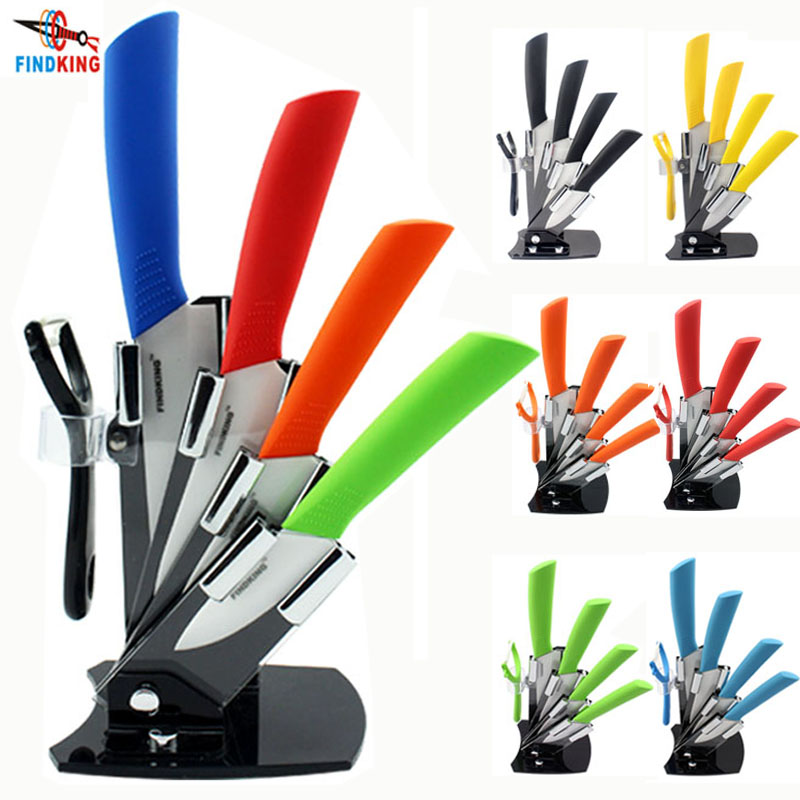 High quality brand Paring Fruit Utility  3 4 5 6 inch + peeler + Acrylic Holder Block  Chef Kitchen Ceramic Knife SetsHigh quality brand Paring Fruit Utility  3 4 5 6 inch + peeler + Acrylic Holder Block  Chef Kitchen Ceramic Knife Sets