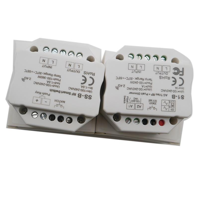 Wholesale S1-B SS-B AC100-240V RF Smart Switch Output 100-240VAC 1.5A 360W RF Smart Switch With Relay Output Led Controller