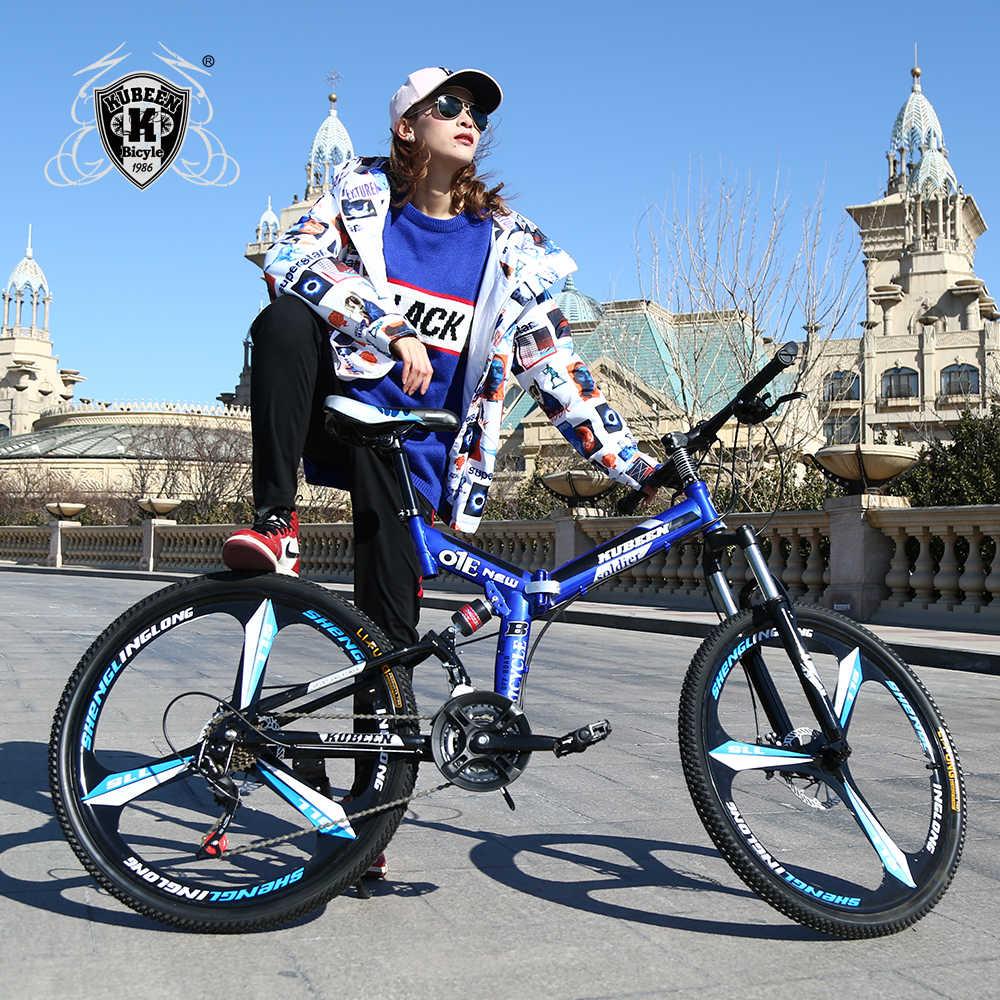 KUBEEN горный велосипед 26 дюймовый стальной 21 скорость велосипеды двойной дисковые тормоза с переменной скоростью дорожные велосипеды гоночный велосипед