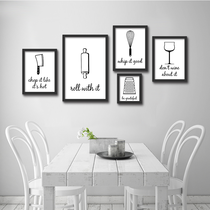 Nordic Minimalist Modern Decorative Painting Living Room Backdrop Black And  White Mural Restaurant