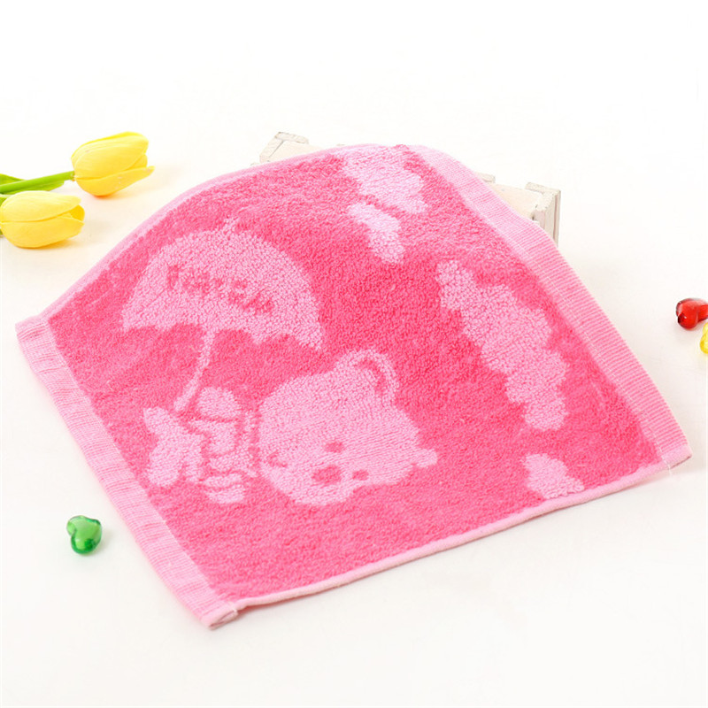 Square 25CM Hand Towel For Kids Chidren Microfiber Absorbent Hand Dry Towel Kitchen Bathroom Soft Plush Dishcloths Cotton