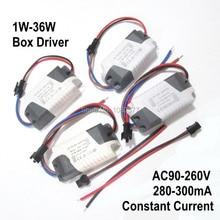 2 sztuk/partia zasilacz led separacji prądu stałego sterownik lampy 300mA 280mA 1W 3W 5W 7W 9W 10W 20W 30W 36W transformator oświetleniowy