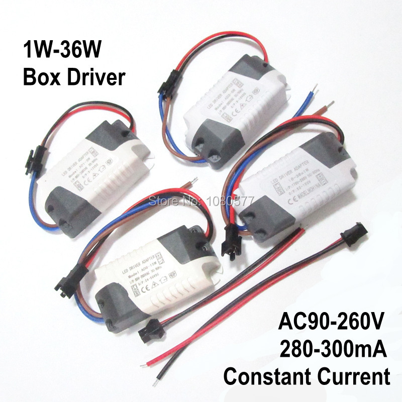 2pcs/lot LED Power Supply Constant Current Isolation Lamp Driver 300mA 280mA 1W 3W 5W 7W 9W 10W 20W 30W 36W Lighting Transformer jr ss 35r 36 water resistance 30w led constant current source power supply driver 100 240v