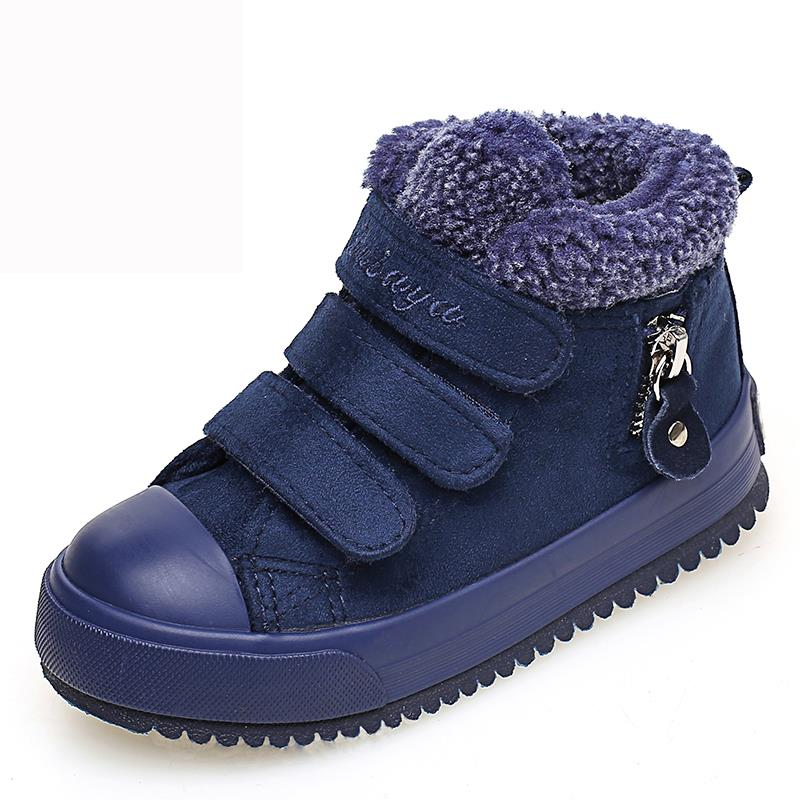 2016 Winter Kids Shoes Boys Girls Boots Warm Cotton Comfortable Fashion High Top Boys Casual Shoes Kids Sneakers Snow Boots high quality kids boots girls boots fashion leather snow boots girls warm cotton waterproof girls winter boots kids shoes girls