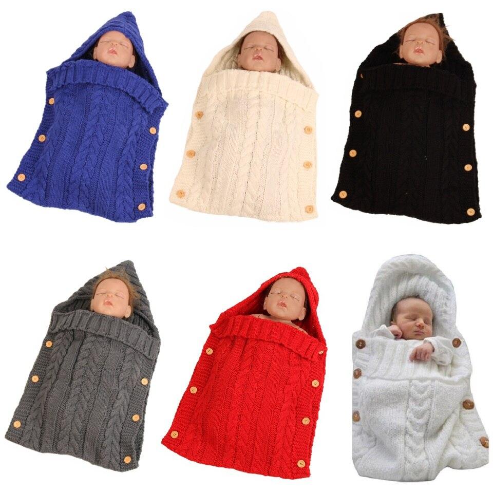 Solid Wool Baby Receiving Blankets Newborn Sleeping Bag