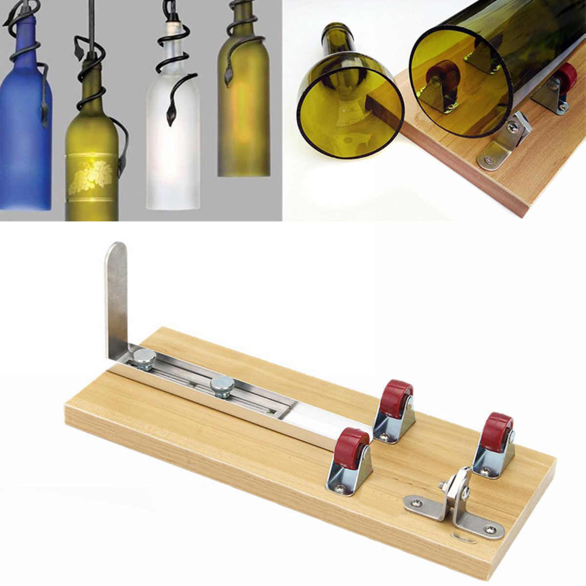 Hot Sale Glass Bottle Cutter Machine Mayitr Wine Bottle Jar Cutter Machine Kit Sculpture For Art Cutting Tool DIY Recycle best price mgehr1212 2 slot cutter external grooving tool holder turning tool no insert hot sale brand new