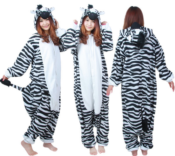 63a407d7f17 Cartoon Adult Unisex Zebra Jumpsuit Anime Horse Pajamas Halloween Theme  Graduation Party Pyjamas Costume Cosplay Onesie