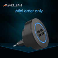 ARUN 500 1000pcs mini order 4 port wall charger original design blue led light wall charger best seller in all e commerce platfo