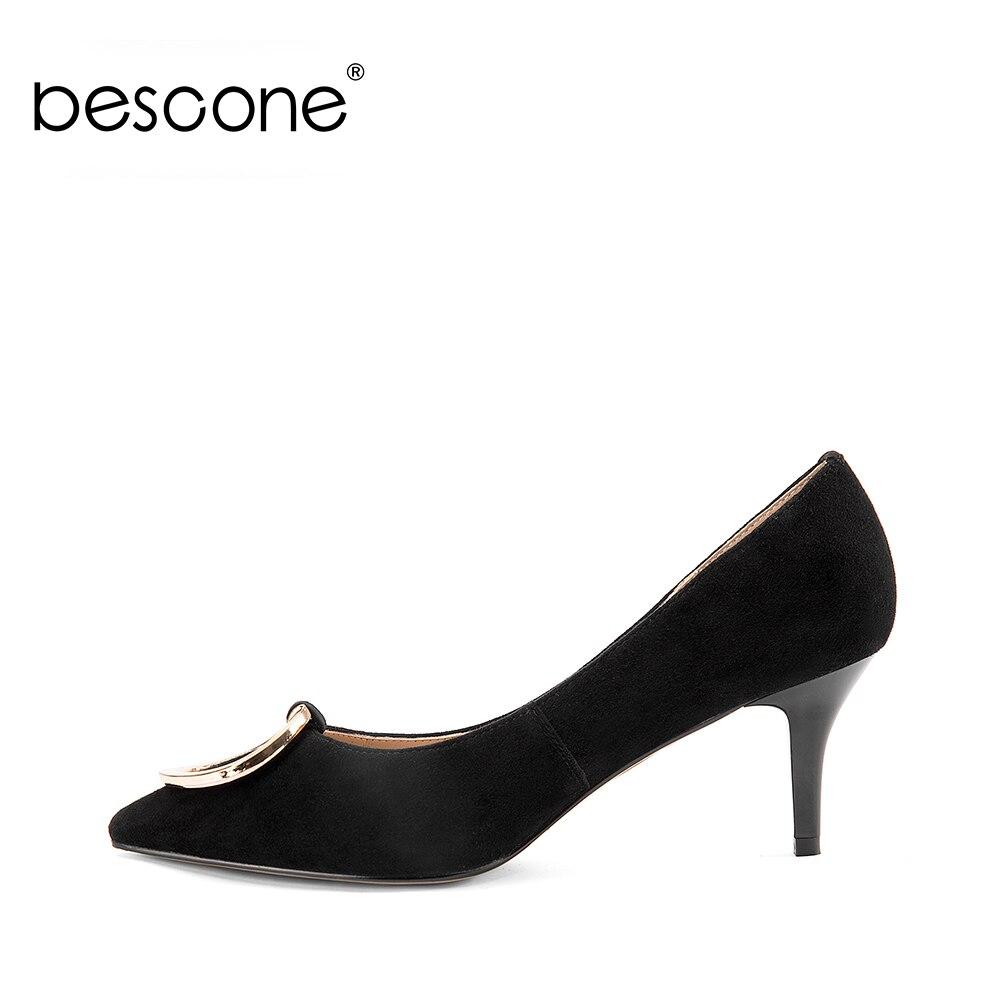 bb3977c1 Bomba Mujer Zapato A26 Otoño Fiesta Madura 2018 Delgada Black Sexy Elegante  Dama Boda Punta Chico De Oficina Bescone Tacón Negro aTwUv44x