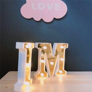 Image 4 - INS Gold 26 Английский алфавит Marquee светильник, Свадебный светильник, светильник с именем и буквой s, светодиодный Ночной светильник, украшение для бара