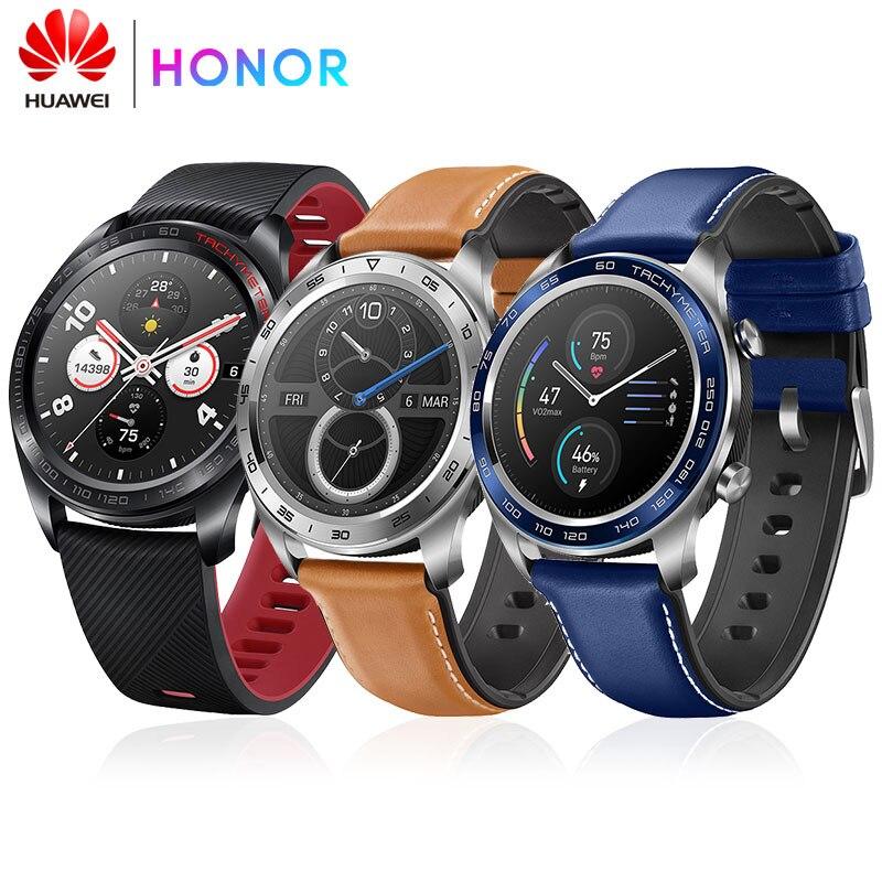 Huawei Honor magique NFC GPS Sport SmartWatch courir traqueur de fréquence cardiaque sommeil Tracker Message 5ATM étanche rappel 1.2 pouces montre