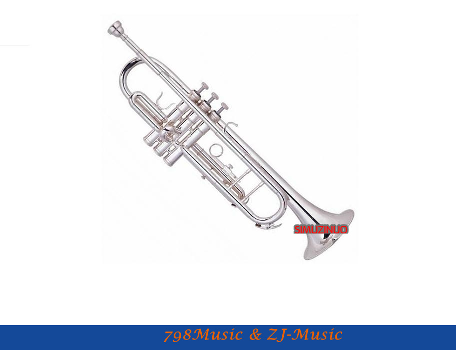 Silver Plated Bb/C Trumpet Professional Model With Case-Bore Size 11.65mm-Bell DIA.127mm
