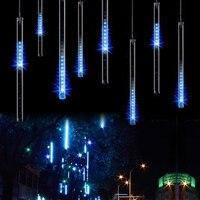 50CM 240LED Meteor Shower Rain Tube LED Christmas Light Wedding Party Garden Xmas String Light Outdoor