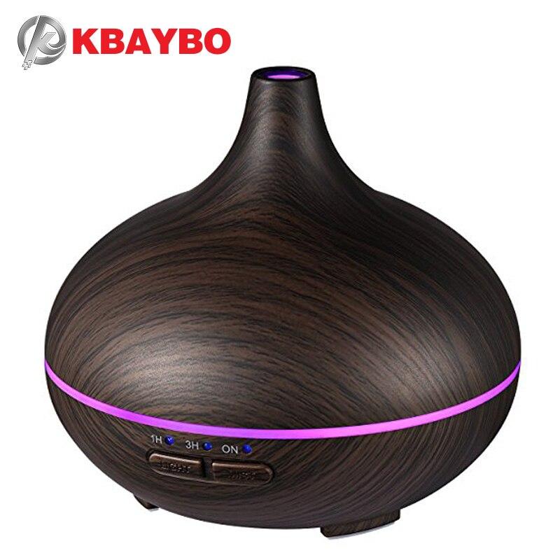150 ml Aroma difusor de aceite esencial humidificador de aire ultrasónico con 4 Ajustes del temporizador 7 Color que cambia la lámpara LED toda la casa humidi