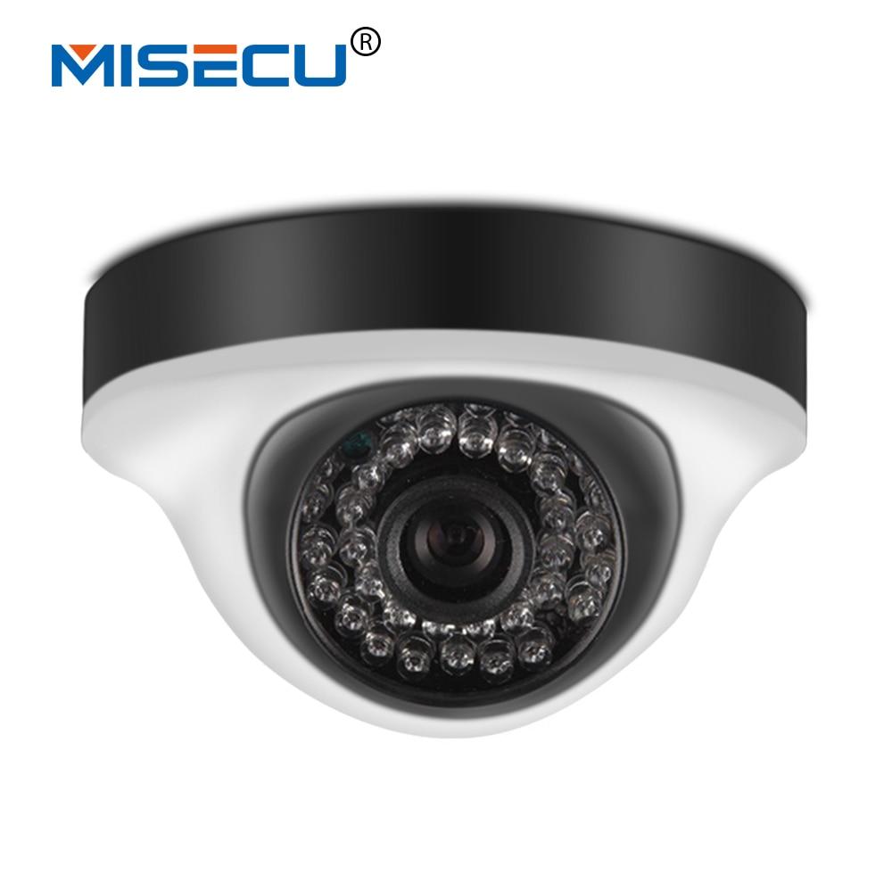 MISECU 1.0MP Onvif P2P HD 720P dome IP Camera 360 degree rotation 1/4'' 36pcs XM510A ABS IR Cut Night Vision XMEye App Camera
