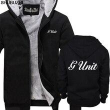 Mùa đông dày khoác hoodie Mới G Đơn Vị 50 Cent Rap Hip Hop Logo Nam Áo Hoodie Đen S 5XL Cao Cấp Nam Mùa Đông áo khoác phối sbz1465