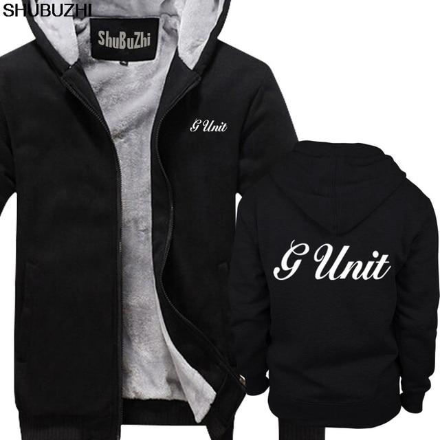 winter thick hoodies New G Unit 50 Cent Rap Hip Hop Logo Mens Black hoodie S 5XL Premium Mens winter jacket coat sbz1465
