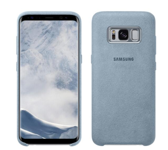 innovative design b8ce0 9c79d US $12.59 40% OFF|100% Original Samsung Galaxy S8 S8 Plus S8+ Case g9550  9500 Anti Fall Leather ALCANTARA Cover 4 color-in Fitted Cases from ...