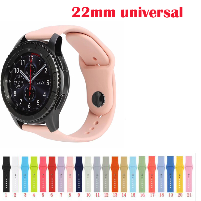 22mm 20 For Samsung Galaxy watch Active 46mm 42 s2 S3 live Neo Ticwatch E pro strap Silicone amazfit 2s 1 pace bip sport band image