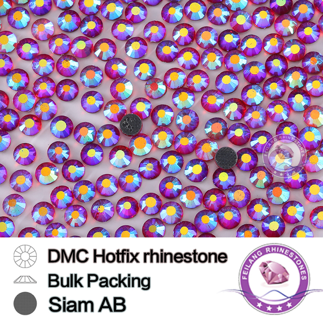 High Quality Top Crystal Siam AB SS16 SS20 SS30 DMC Hotfix Rhinestones For Clothes Bags And Shoes Wedding Decoration